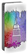 Empire State Of Mind Cool Rainbow 3 Dimensional Portable Battery Charger