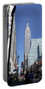 Empire State Of Mind In The Late Springtime Portable Battery Charger