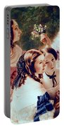 Empress Eugenie And Her Ladies In Waiting Portable Battery Charger