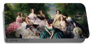 Empress Eugenie Surrounded By Her Ladies In Waiting Portable Battery Charger