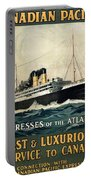 Empress Of The Atlantic - Canadian Pacific - Steamship - Retro Travel Poster - Vintage Poster Portable Battery Charger