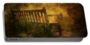 Empty Bench And Poppies Portable Battery Charger