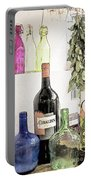 Empty Bottles And Laurel Bouquet Still Life Portable Battery Charger by Heiko Koehrer-Wagner