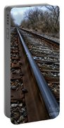Empty Railroad Tracks II Portable Battery Charger