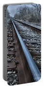 Empty Railroad Tracks Portable Battery Charger