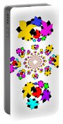 Emty Pretty Flowers Portable Battery Charger