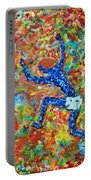 Encaustic  Man  Jumping Portable Battery Charger