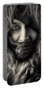 Enchanted Concept Black And White Portable Battery Charger