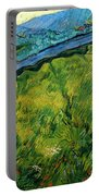 Enclosed Wheat Field With Rising Sun, By Vincent Van Gogh, 1889, Portable Battery Charger