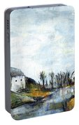 End Of Winter - Acrylic Landscape Painting On Cotton Canvas Portable Battery Charger