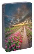 Endless Tulip Field Portable Battery Charger