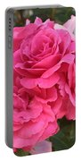 Energizing Pink Roses Portable Battery Charger