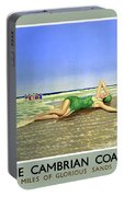England Cambrian Coast Vintage Travel Poster Portable Battery Charger