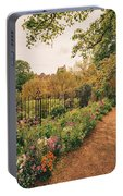England - Country Garden And Flowers Portable Battery Charger