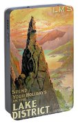 England Lake District Vintage Travel Poster Portable Battery Charger