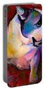 English American Pop Art Bulldog Print Painting Portable Battery Charger