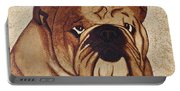 English Bulldog Coffee Painting Portable Battery Charger