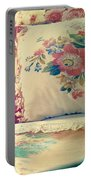 English Chintz With Green Tone Portable Battery Charger