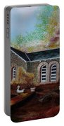 English Cottage In The Autumn Portable Battery Charger