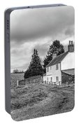 English Cottage In Winter Portable Battery Charger