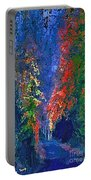 English Country Lane At Night 1d Portable Battery Charger