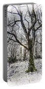 English Forest Snow Art Portable Battery Charger