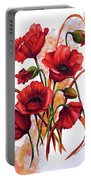 English Poppies 2 Portable Battery Charger
