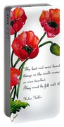 English Poppy   Poem Portable Battery Charger