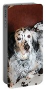 English Setter Lay Portable Battery Charger