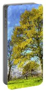 English Summer Farm Art Portable Battery Charger