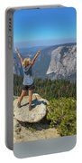 Enjoying At Yosemite Summit Portable Battery Charger