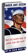 Enlist In Your Navy Today - Ww2 Portable Battery Charger