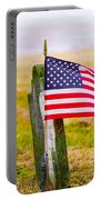 Enriched American Flag - Remember Portable Battery Charger
