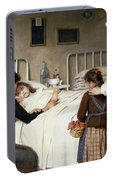 Enrique Paternina Garcia Cid - Mother Visit To The Hospital 1892 Portable Battery Charger