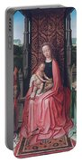 Enthroned Virgin And Child, With Angels Portable Battery Charger