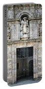 Entrance Facade In Landmark Cathedral Of Santiago De Compostela  Portable Battery Charger
