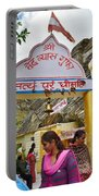 Entry Gate To Vyasa's Cave - Badrinath India Portable Battery Charger