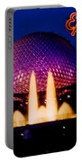 Epcot At Night Portable Battery Charger