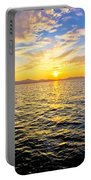 Epic Colorful Sunset On Sea Portable Battery Charger