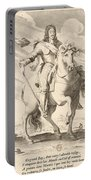 Equestrian Portrait Of Louis Xiii Of France Portable Battery Charger