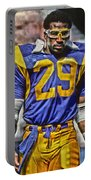 Eric Dickerson Los Angeles Rams Art Portable Battery Charger