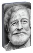 Ernest Hemingway Portable Battery Charger