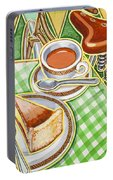 Eroica Britannia Bakewell Pudding And Cup Of Tea On Green Portable Battery Charger
