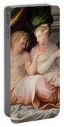 Eros And Psyche Portable Battery Charger by Niccolo dell Abate
