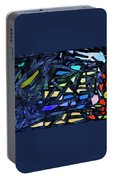 Escape Of The Blue-headed Capricorn From The Labyrinths Of Darkness Portable Battery Charger