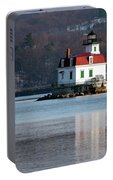 Esopus Lighthouse In December Portable Battery Charger