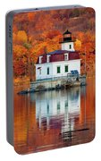 Esopus Lighthouse In Late Fall #3 Portable Battery Charger