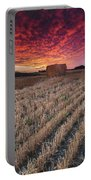 Essex Hay At Sunrise Portable Battery Charger