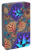 Etched Leaves Portable Battery Charger