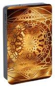 Eternity Mandala Golden Zebrawood Portable Battery Charger